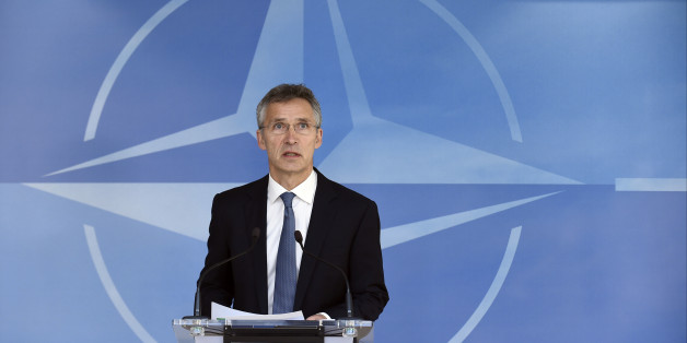 NATO Secretary-General Jens Stoltenberg gives a joint press before a Nato Defense Council meeting at the NATO Headquarters in Brussels on June 14, 2016. NATO defence ministers were set on June 14, 2016 to approve sending battalions to the three Baltic states and Poland just weeks before a landmark summit in Warsaw endorses a major build-up to counter a more assertive Russia.   / AFP / JOHN THYS        (Photo credit should read JOHN THYS/AFP/Getty Images)