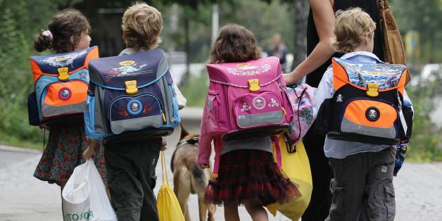 Berliner Kinder auf dem Schulweg