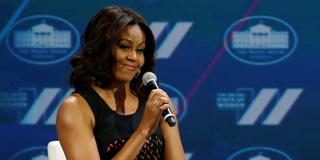 "U.S. First Lady Michelle Obama and television presenter Oprah Winfrey (not pictured) participate in the White House's ""United State of Women"" summit in Washington, U.S. June 14, 2016. REUTERS/Jonathan Ernst??"