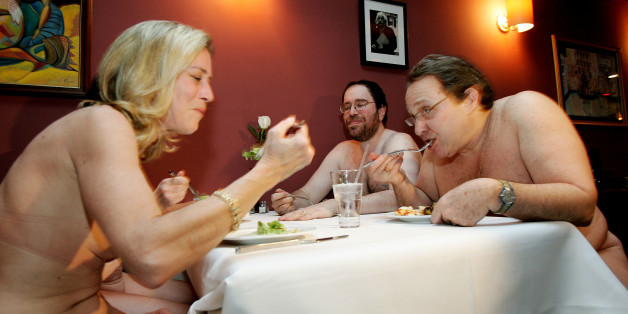Nudisten in einem New Yorker Restaurant