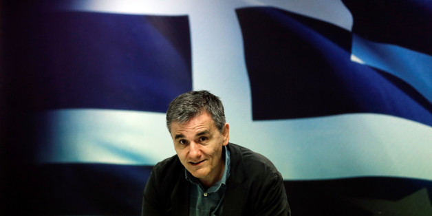 Greek Finance Minister Euclid Tsakalotos arrives for a news conference at the ministry in Athens, Greece May 26, 2016. REUTERS/Alkis Konstantinidis