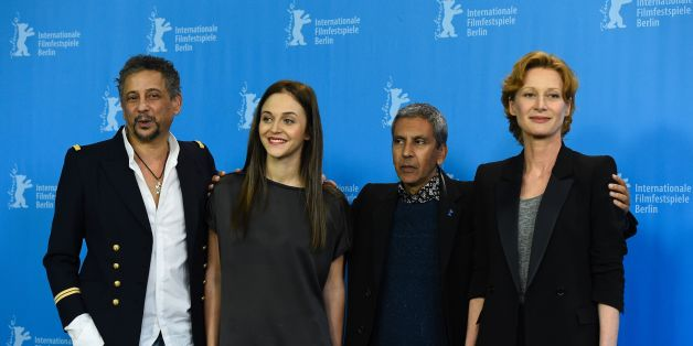 (L to R) Tunesian born Actor Abel Jafri, Belgian actress Pauline Burlet, French director Rachid Bouchareb and Belgian actress Astrid Whettnall pose during a photo call for the film 'La Route D'Istanbul' (Road to Istanbul) screened in the Panorama section at the 66th Berlinale Film Festival in Berlin on February 15, 2016. / AFP / TOBIAS SCHWARZ        (Photo credit should read TOBIAS SCHWARZ/AFP/Getty Images)