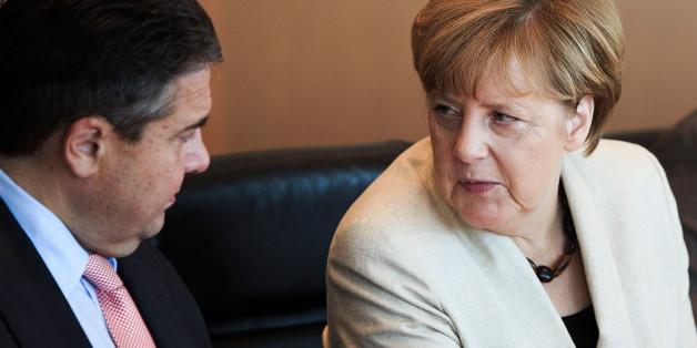 Sigmar Gabriel und Angela Merkel.