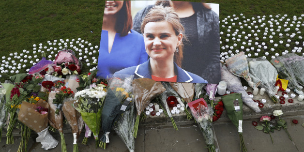 Tributes for Labour Party MP Jo Cox, who was shot dead in the street in northern England, are displayed on Parliament Square in London, Britain, June 16, 2016. REUTERS/Neil Hall FOR EDITORIAL USE ONLY. NO RESALES. NO ARCHIVES.