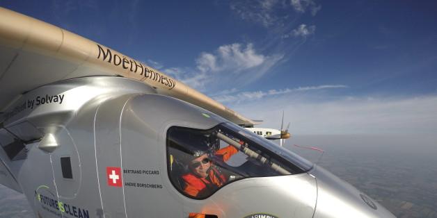 Der Schweizer Pilot überquert mit seinem Sonnenflieger den Atlantik - und das ohne Treibstoff