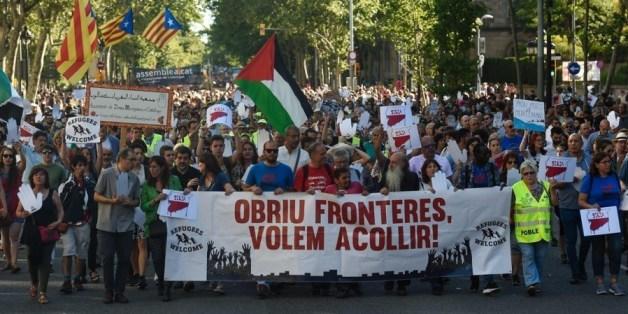 Une marche à Barcelone pour l'accueil des migrants
