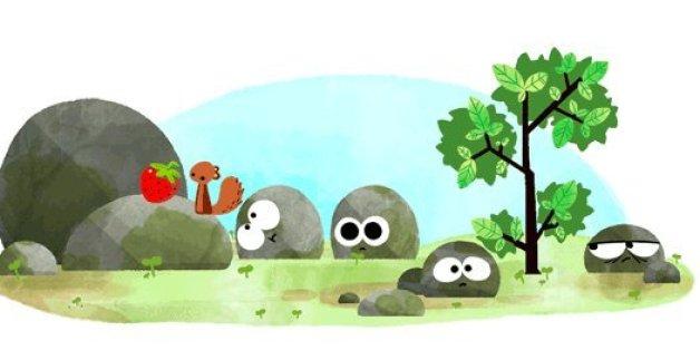Google Doodle zum Sommeranfang: Die Steine sind zurück
