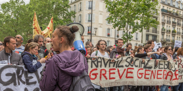 Une manifestation à Paris contre la réforme de la loi de travail, le 14 juin 2016 (Photo: Willi Effenberger/Pacific Press/LightRocket via Getty Images)