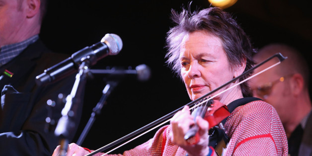 NEW YORK, NEW YORK - MARCH 30:  Laurie Anderson performs with Holy Holy during the Live Rehearsal for The Music of David Bowie show at City Winery on March 30, 2016 in New York City.  (Photo by Al Pereira/Getty Images)