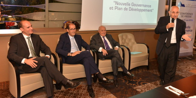 De gauche à droite, Benoît Vaillant (directeur général adjoint), Abdeslam El Alami, Mohamed El Alami et Jawad Sqalli