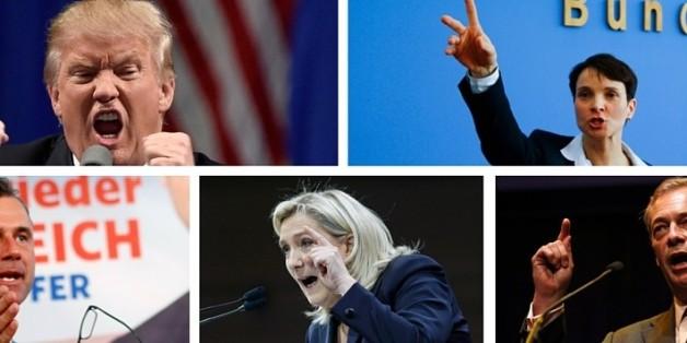 Auf der ganzen Welt sind Rechtspopulisten auf dem Vormarsch.