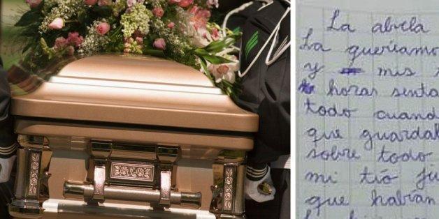 Junge und Mädchen auf einer Beerdigung