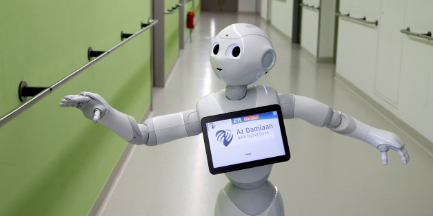 "New recruit ""Pepper"" the robot, a humanoid robot designed to welcome and take care of visitors and patients, is seen at AZ Damiaan hospital in Ostend, Belgium June 16, 2016. REUTERS/Francois Lenoir"