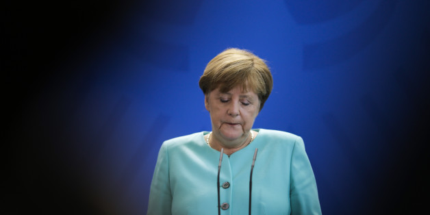 German Chancellor Angela Merkel speaks during a statement about the referendum in Britain at the chancellery in Berlin, Friday, June 24, 2016. Britain voted to leave the European Union after a bitterly divisive referendum campaign, according to tallies of official results Friday. (AP Photo/Markus Schreiber8