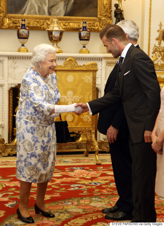 david beckham queen elizabeth