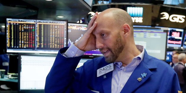 Specialist Meric Greenbaum works at his post on the floor of the New York Stock Exchange, Friday, June 24, 2016. U.S. stocks are plunging in early trading after Britons voted to leave the European Union. (AP Photo/Richard Drew)