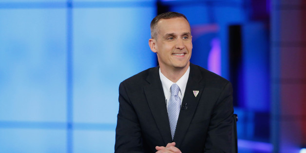 NEW YORK, NY - MAY 10:  Presidential  candidate Donald Trump's campaign manager Corey Lewandowski visits Fox News Channel with Hannity at FOX Studios on May 10, 2016 in New York City.  (Photo by John Lamparski/Getty Images)