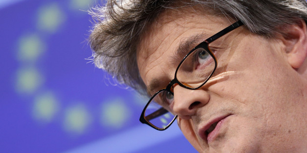 File Photo - Britain's EU Commissioner Lord Jonathan Hill seen in Brussels, Belgium, February 18, 2015.   File Photo taken February 18, 2015.       REUTERS/Francois Lenoir