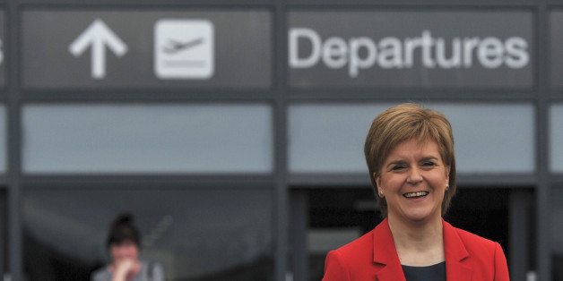 Nicola Sturgeon, the First Minister of Scotland, smiles during a EU referendum remain event, at Edinburgh airport in Edinburgh, Scotland, Britain June 22, 2016. REUTERS/Clodagh Kilcoyne