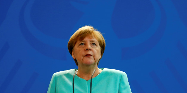 German Chancellor Angela Merkel gives a statement in Berlin, Germany, June 24, 2016, after Britain voted to leave the European Union in the EU BREXIT referendum.    REUTERS/Hannibal Hanschke