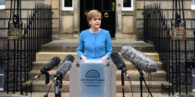Scotland's First Minister and Leader of the Scottish National Party (SNP), Nicola Sturgeon, addresses the media after holding an emergency Cabinet meeting at Bute House in Edinburgh, Scotland on June 25, 2016, following the pro-Brexit result of the UK's EU referendum vote.