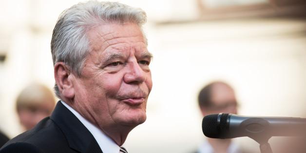 Bundespräsident Gauck wurde in Sebnitz mit Buh-Rufen empfangen