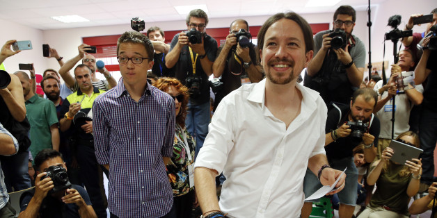 Podemos (We Can) leader Pablo Iglesias, now running under the coalition Unidos Podemos (Together We Can), casts his vote in Spain's general election in Madrid, Spain, June 26, 2016. REUTERS/Andrea Comas