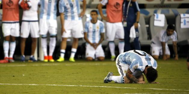 Lionel Messi setzte beim Elfmeterschießen des Copa America-Finales den Ball über das Tor