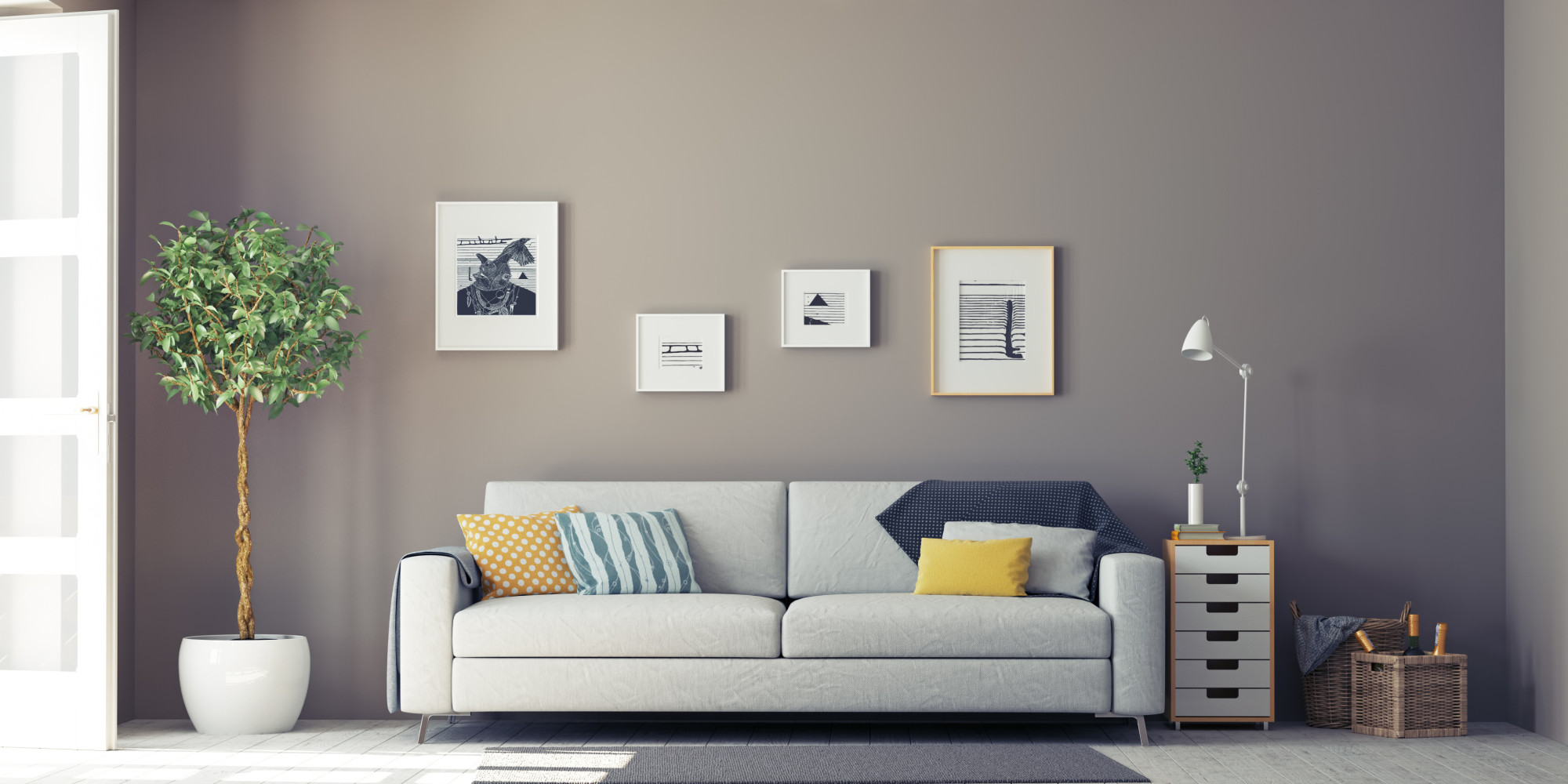 10 Affordable Ways To Fill A Large Blank Wall HuffPost