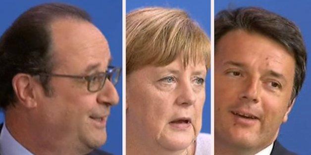 La petite blague de Renzi sur l'Euro fait sourire Hollande...mais pas Merkel