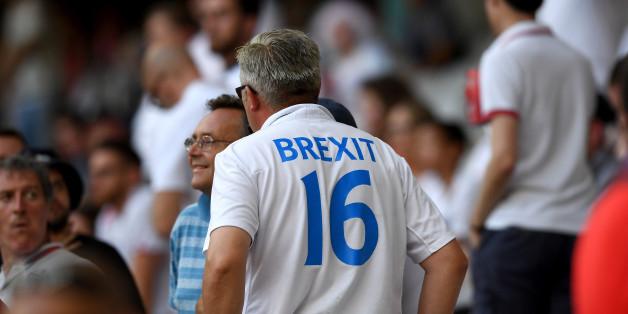 Ein Brexit-Unterstützer bei einem EM-Fußballspiel