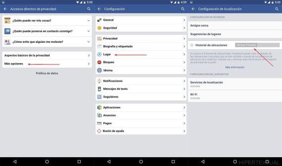 facebook privacidad movil