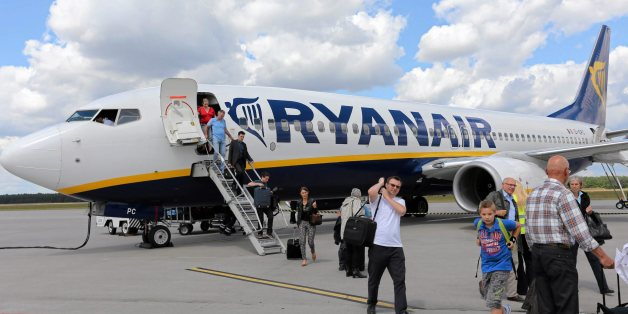 "File photo of passangers leaving a Ryanair aircraft at Modlin airport near Warsaw, Poland June 26, 2014. Polish police acting on a tip-off from a hoax caller searched a Ryanair jet for an explosive device on July 25, 2015 but found nothing, police and the airline said. A spokesman for Warsaw police said a 48-year-old man had been detained after the hoax call was traced to his home. ""This was an irresponsible prank,"" the spokesman, Mariusz Mrozek, told Polish broadcaster TVN24. Ryanair said the jet was on the tarmac at Warsaw's Modlin airport, waiting to board for a flight to Oslo, when the call came in. The airport was temporarily closed to incoming and outbound flights as a precaution.   REUTERS/Franciszek Mazur/Agencja Gazeta THIS IMAGE HAS BEEN SUPPLIED BY A THIRD PARTY. IT IS DISTRIBUTED, EXACTLY AS RECEIVED BY REUTERS, AS A SERVICE TO CLIENTS. POLAND OUT. NO COMMERCIAL OR EDITORIAL SALES IN POLAND."