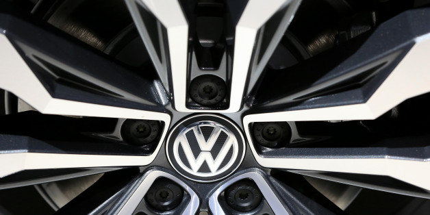 The wheel hub of a Volkswagen Tiguan R line automobile sits on display at the Volkswagen AG (VW) annual general meeting (AGM) in Hannover, Germany, on Wednesday, June 22, 2016. Matthias Mueller, chief executive officer of Volkswagen AG, sought to appease shareholder anger over the worst crisis in the carmakers history by shoring up internal controls to prevent a repeat of the diesel-emissions scandal. Photographer: Krisztian Bocsi/Bloomberg via Getty Images
