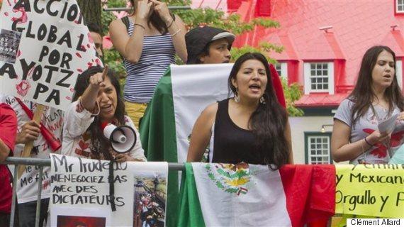 manifestants mexique