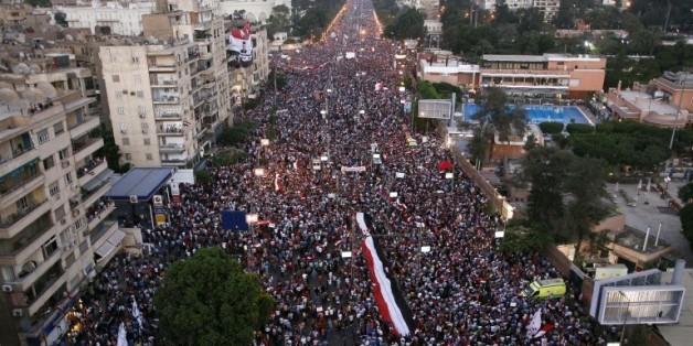 Manifestation anti-Morsi au Caire en Egypte, le 30 juin 2013