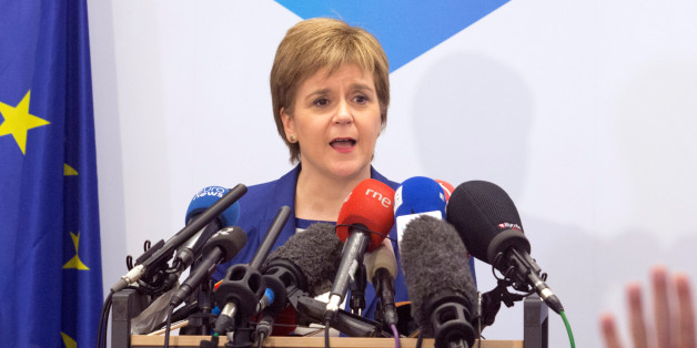 Scotland's First Minister Nicola Sturgeon addresses a news conference in Brussels, Belgium, June 29, 2016. REUTERS/Geoffroy Van Der Hasselt/Pool     TPX IMAGES OF THE DAY