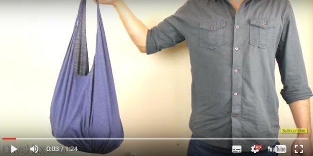 Après l'interdiction des sacs plastique, voici le tuto le plus simple pour faire son propre sac