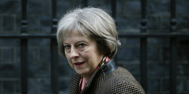 Britain's Home Secretary, Theresa May, arrives to attend a cabinet meeting at Number 10 Downing Street in London, Britain February 23, 2016. REUTERS/Stefan Wermuth