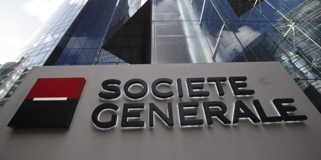 The logo of French bank Societe Generale SA is pictured at the La Defense business district outside Paris, Thursday, Jan. 11, 2016(AP Photo/Michel Euler)