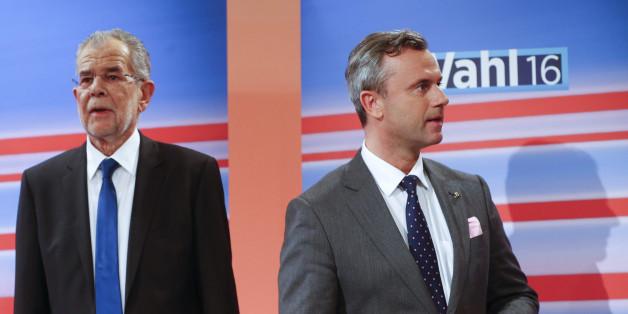 Alexander Van der Bellen (l.) und Norbert Hofer