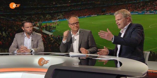 Kahn und Welke sprachen gestern nach dem Spiel Wales – Belgien über Kahns Gehalt.