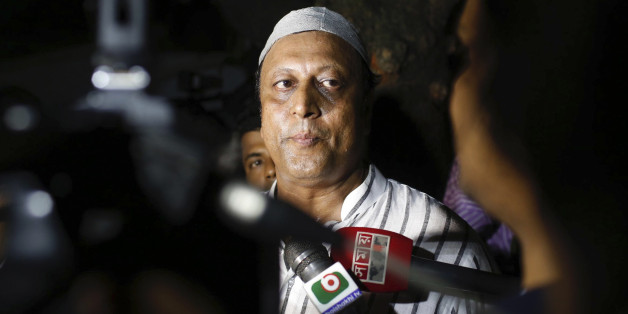 An unidentified relative of a person taken hostage after a group of gunmen attacked a restaurant popular with foreigners, talks to journalists in Dhaka, Bangladesh, Friday, July 1, 2016. A group of gunmen attacked the Holey Artisan Bakery in Dhaka's Gulshan area, taking hostages and exchanging gunfire with security forces, according to a restaurant staff member and local media reports. (AP Photo)