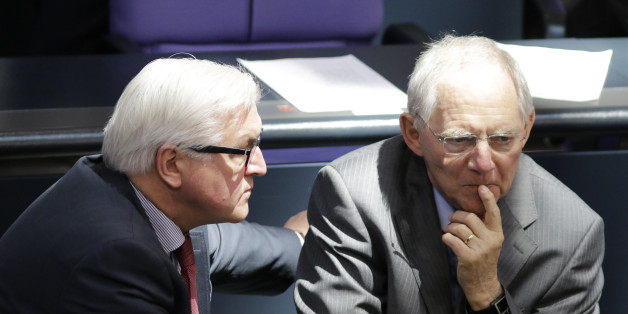 Das Verhältnis von Steinmeier und Schäuble ist angeschlagen.
