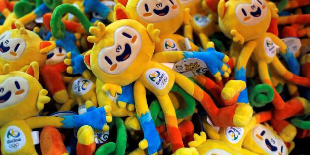 Rio 2016 Olympics mascot Vinicius dolls are seen during the opening of Rio 2016 Olympics megastore on Copacabana beach in Rio de Janeiro, Brazil, June 30, 2016. REUTERS/Pilar Olivares