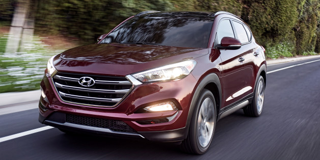 This photo provided by Hyundai Motor America shows the 2016 Hyundai Tucson. Hyundai's entry in the fast-growing small SUV market gets longer, wider, sleeker and more efficient. The automaker added 3 inches to the Tucson's length and made the SUV just over an inch wider.  (Morgan Segal/Hyundai Motor America via AP)