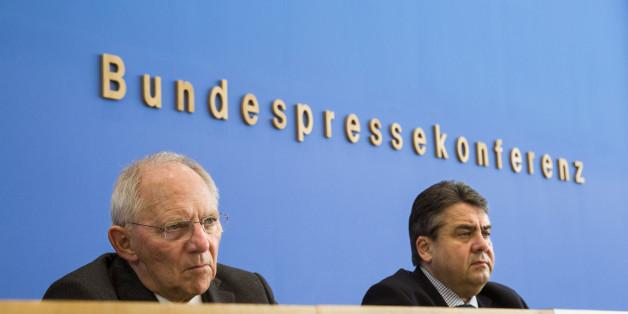 Wolfgang Schäuble und Sigmar Gabriel.