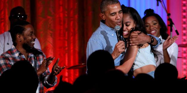 US-Präsident Barack Obama gratulierte seiner Tochter Malia zum