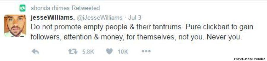 jesse williams tweet