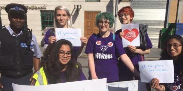 Londoner protestieren gegen eine Welle des Hasses nach dem Brexit-Votum